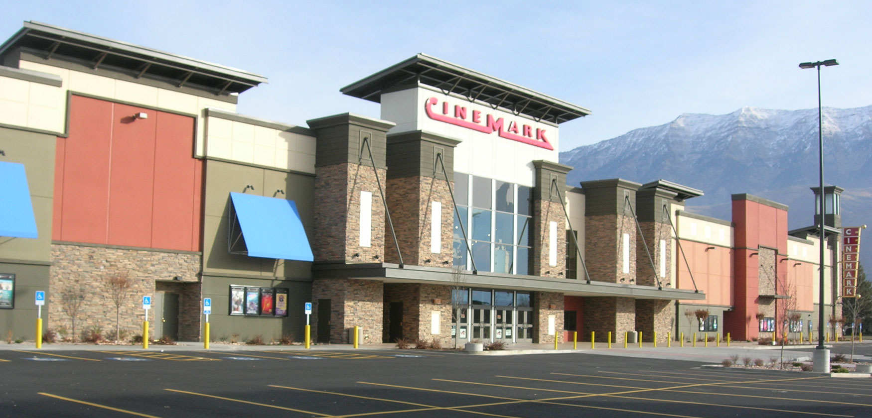 Cinemark Orem exterior front - movie theater construction example
